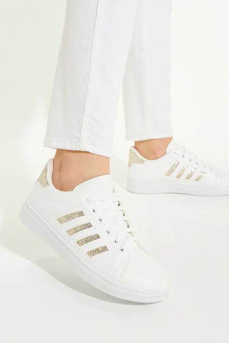 Snox Beyaz Altın Spor Ayakkabı