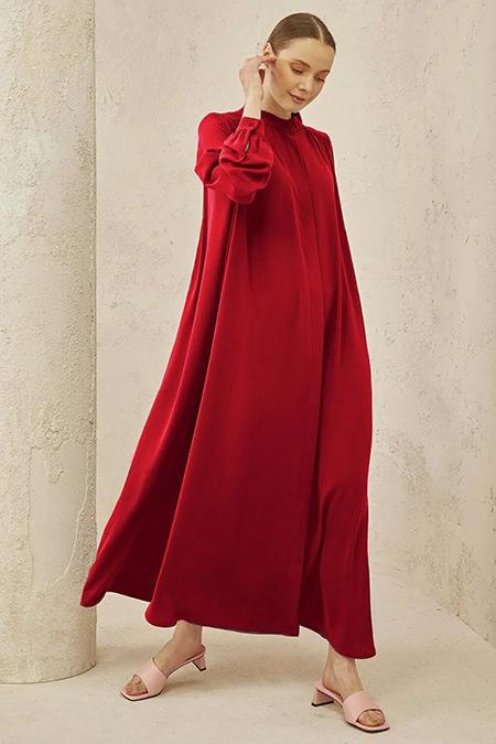 TERZİ DÜKKANI Kırmızı Yaz Elbise