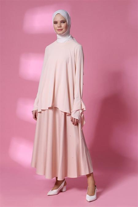Armine Nude Boncuk Detaylı Bluz