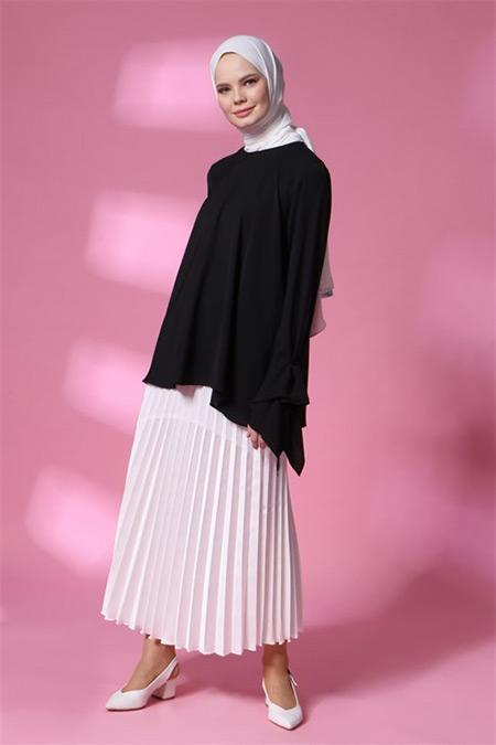Armine Siyah Boncuk Detaylı Bluz