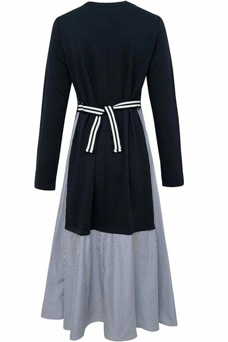 Defacto Lacivert Regular Fit Örme Elbise