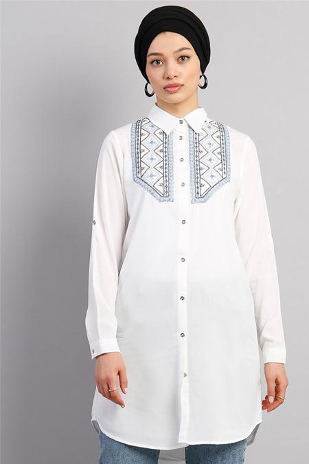 Modamelis Etnik Nakış İşlemeli Gömlek Tunik