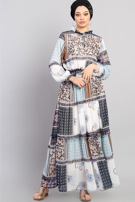 Modamelis Nemi Şifon Elbise