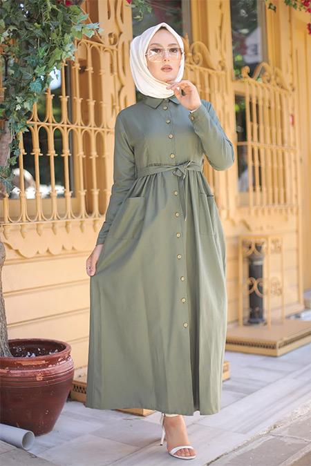 Tofisa Haki Tesettür Cepli Elbise