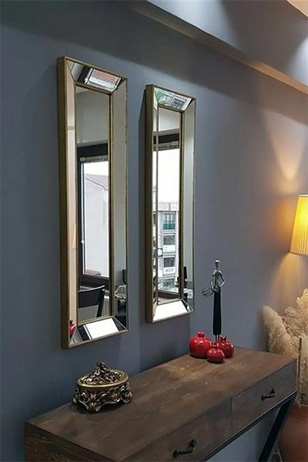 Vivense Neostill 2'Li Dekoratif Duvar Salon Ofis Çerçeveli Ayna