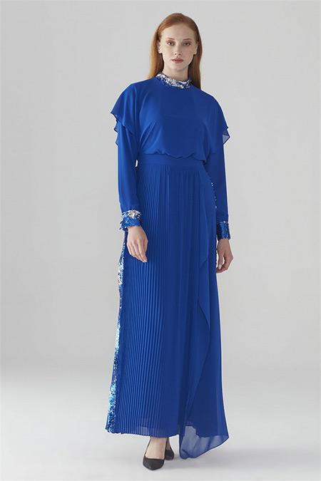 Zühre Saks Pul Payet Detaylı Elbise