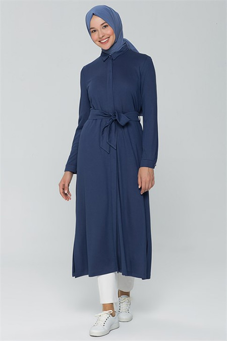 Armine İndigo Tunik Elbise