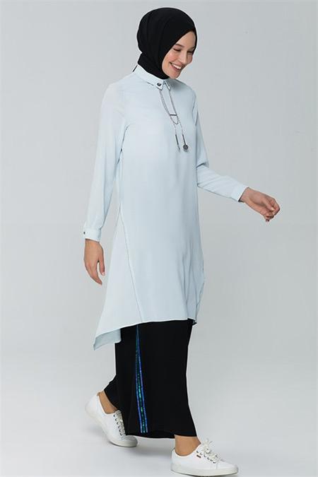 Armine Siyah Pul Payet Detaylı Pantolon