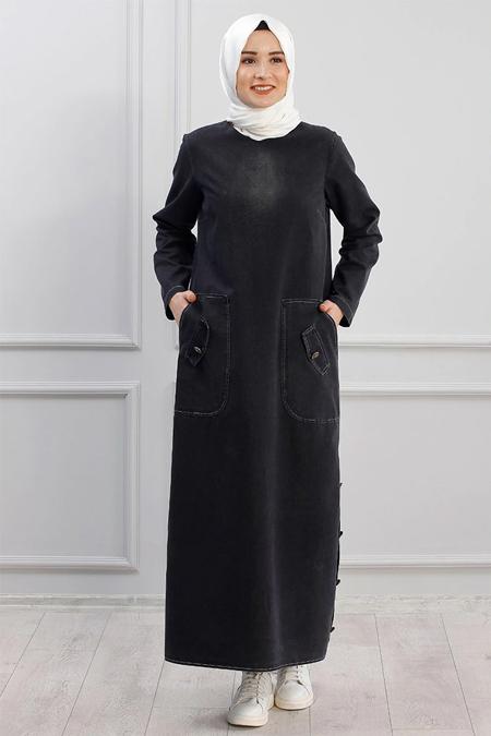 Piennar Siyah Rengin Kot Elbise