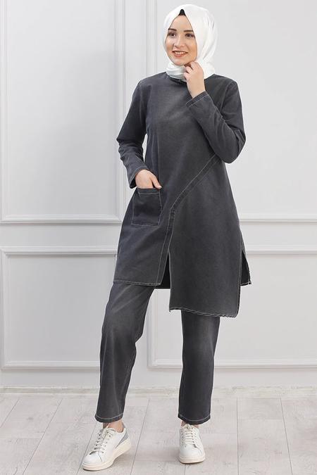 Piennar Siyah Tunik & Pantolon İkili Takım