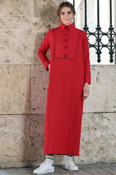 Sahra Afra Kırmızı Fiore Elbise