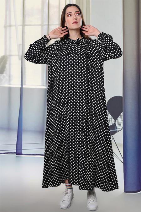 Sahra Afra Siyah Retten Elbise