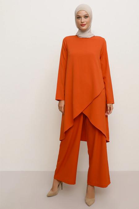 Tavin Oranj Tunik & Pantolon İkili Takım