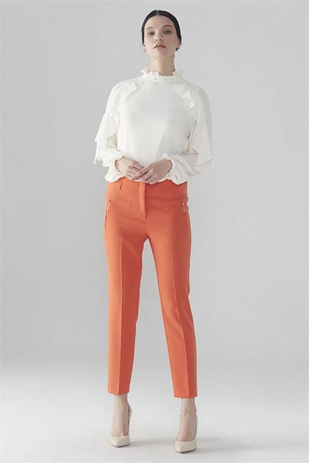 Zühre Oranj Pantolon