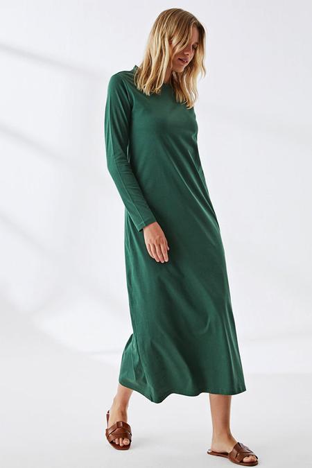 Muni Muni Yeşil Doğal Kumaşlı Elbise
