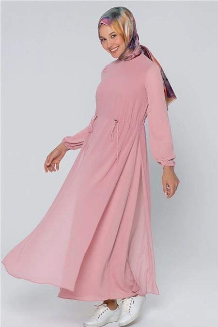 Armine Gül Kurusu Bağcık Detaylı Elbise