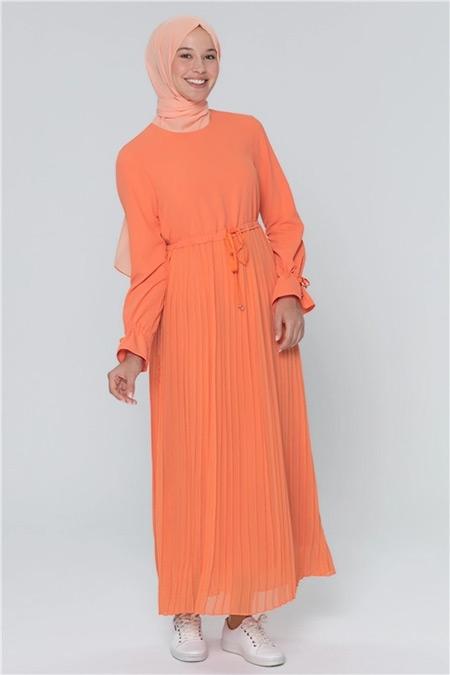 Armine Mango Pilisoley Detaylı Elbise