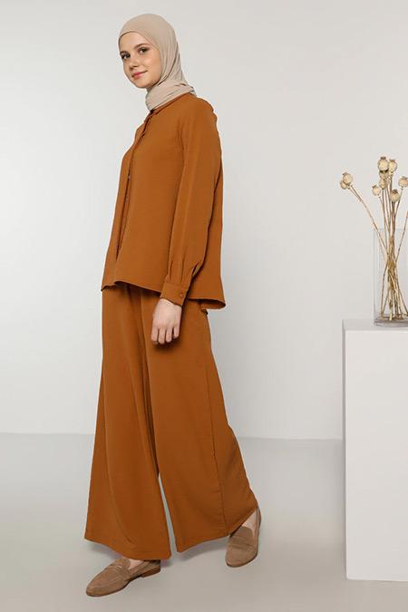 Benin Camel Tunik&Pantolon İkili Takım