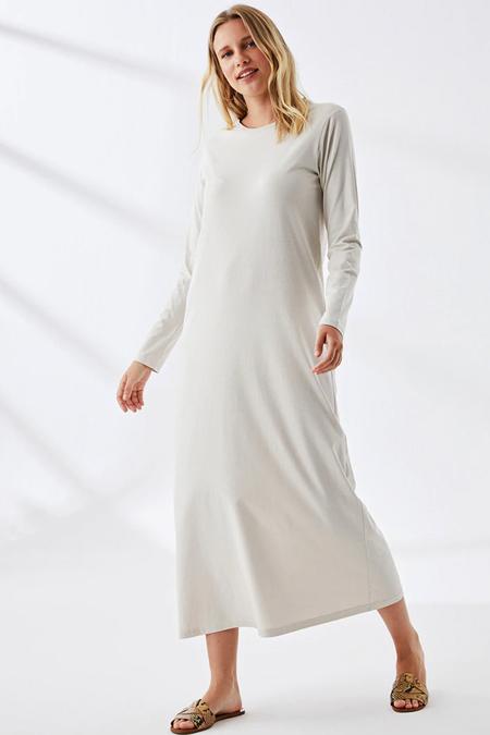 Muni Muni Ekru Doğal Kumaşlı Elbise