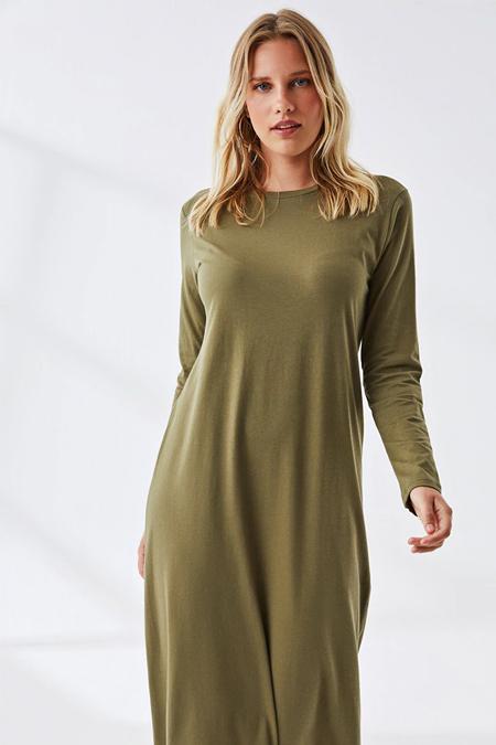 Muni Muni Haki Doğal Kumaşlı Elbise
