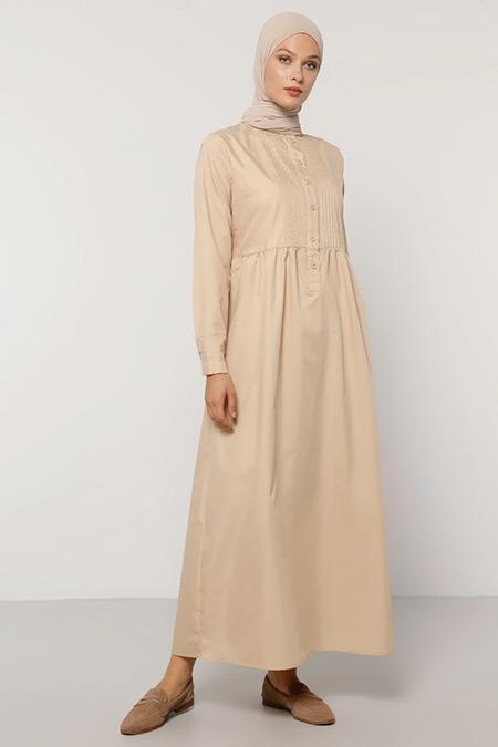 Refka Bej Düğme Detaylı Elbise