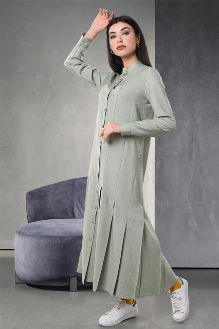 Sahra Afra Yeşil Cuella Elbise