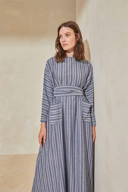 TERZİ DÜKKANI Lacivert Dubai Elbise