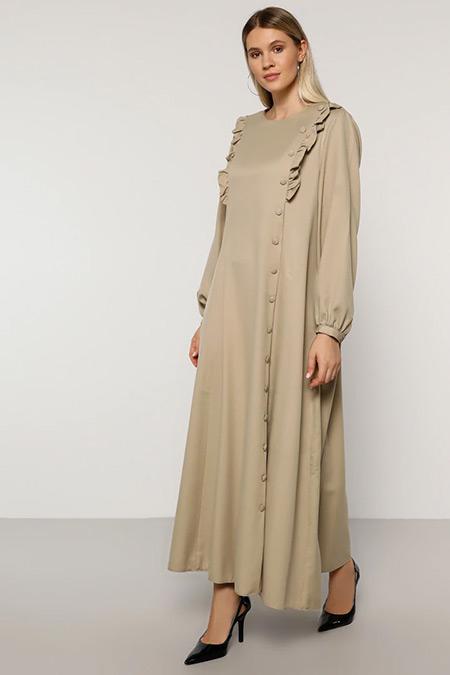 Alia Vizon Volan Detaylı Elbise