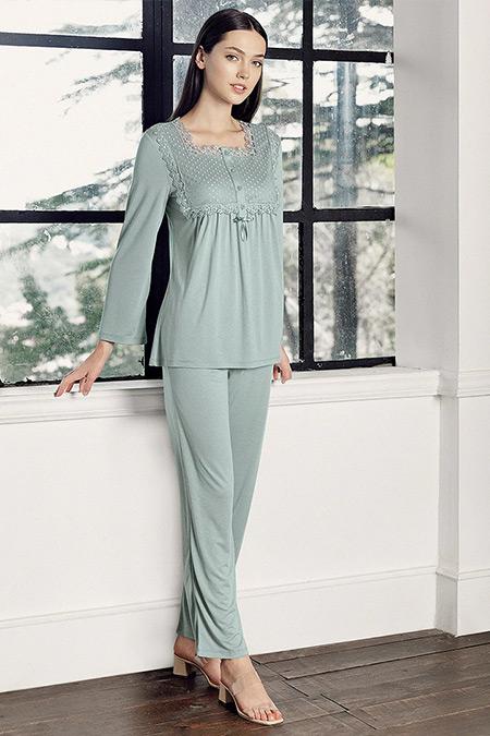 Artış Collection Çağla Yeşili İkili Pijama Takımı