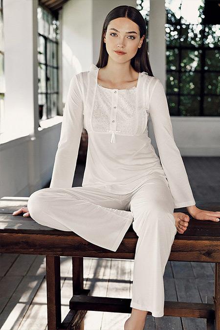 Artış Collection Ekru İkili Pijama Takımı