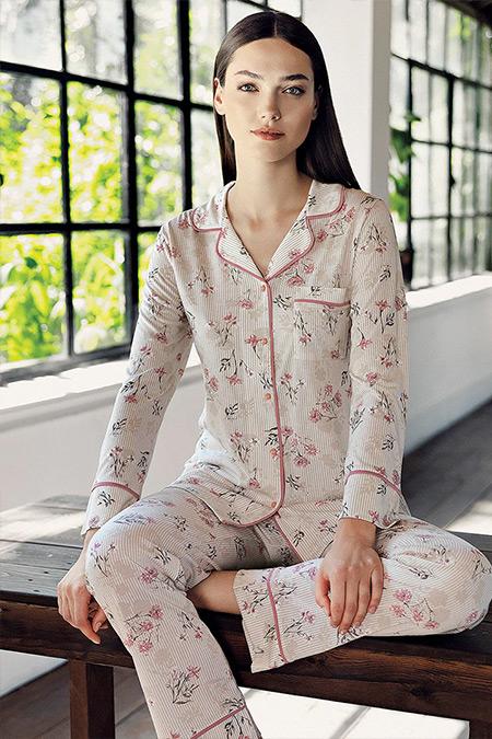 Artış Collection Gül Kurusu İkili Pijama Takımı
