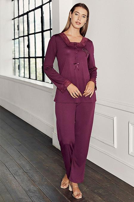 Artış Collection Mürdüm İkili Pijama Takımı