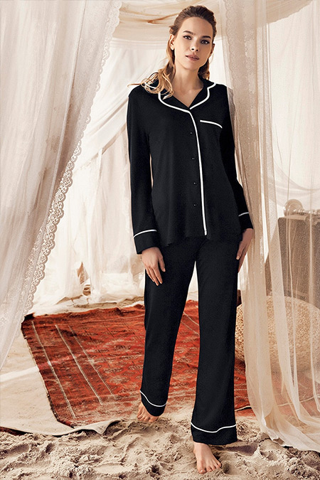 Artış Collection Siyah İkili Pijama Takımı
