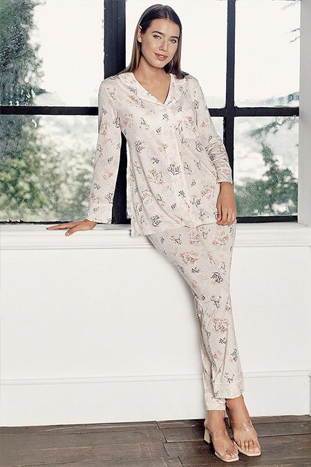 Artış Collection Somon İkili Pijama Takımı