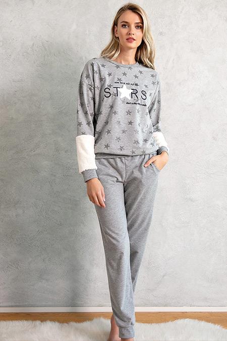 Lingabooms Gri İkili Pijama Takımı