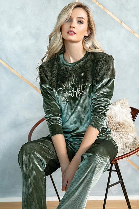 Lingabooms Yeşil İkili Pijama Takımı