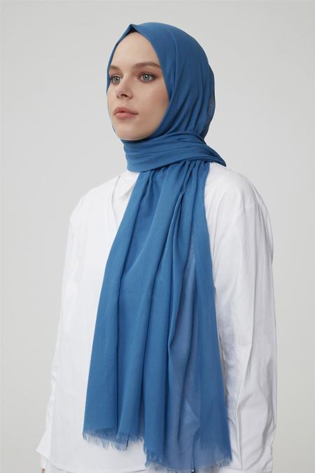 Normcore Mavi %100 Pamuklu Şal