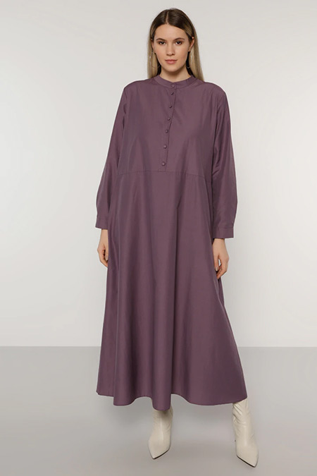 Alia Mor Cep Detaylı Elbise