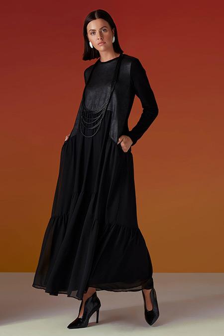 Almarwah Black Siyah Elbise