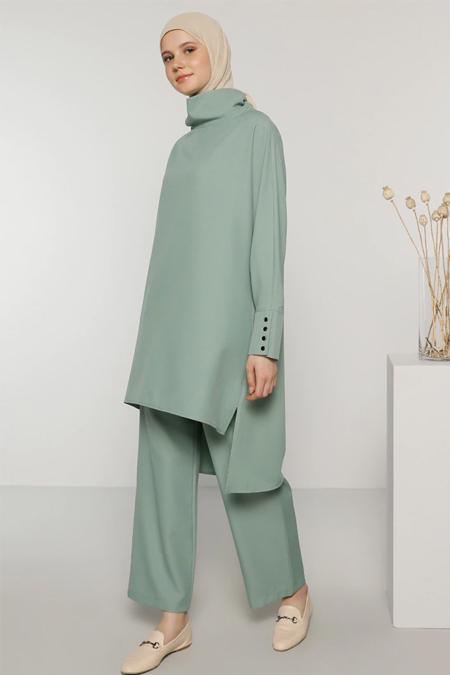Benin Lime Yeşil Tunik & Pantolon İkili Takım