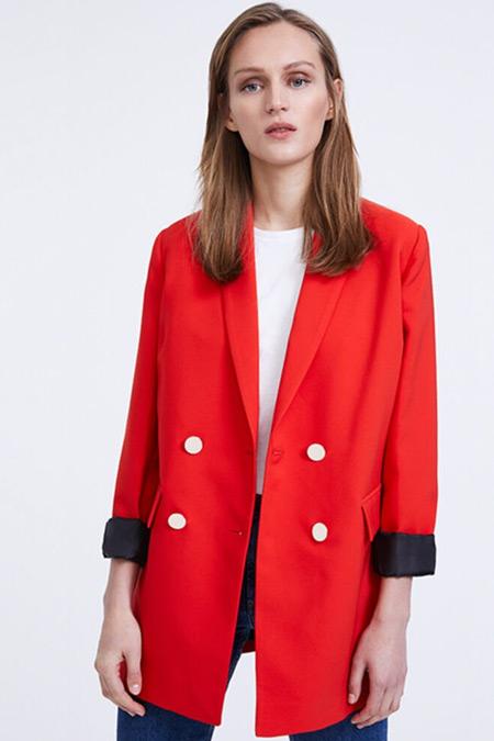 Habb Kırmızı Blazer Ceket