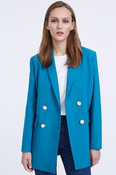 Habb Mavi Blazer Ceket