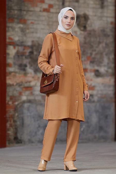 Refka Camel Tunik&Pantolon İkili Takım
