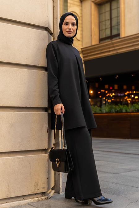 Refka Siyah Tunik&Pantolon İkili Takım