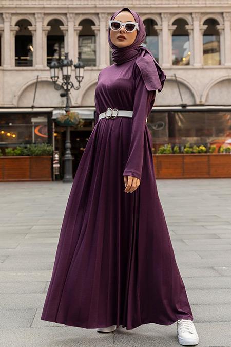 Benin Mürdüm Piliseli Elbise