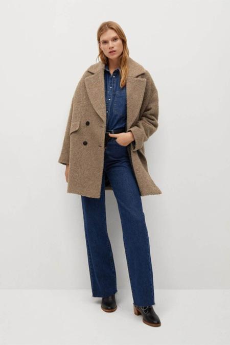 Mango Kadın Kahverengi Palto