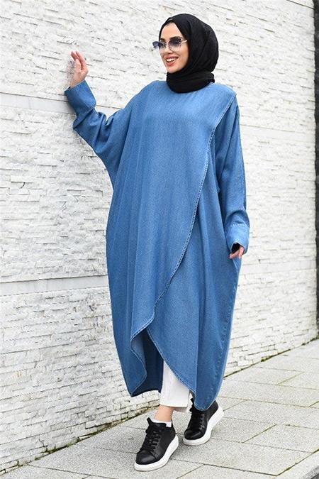 Neways Açık Mavi Tensel Salaş Tunik