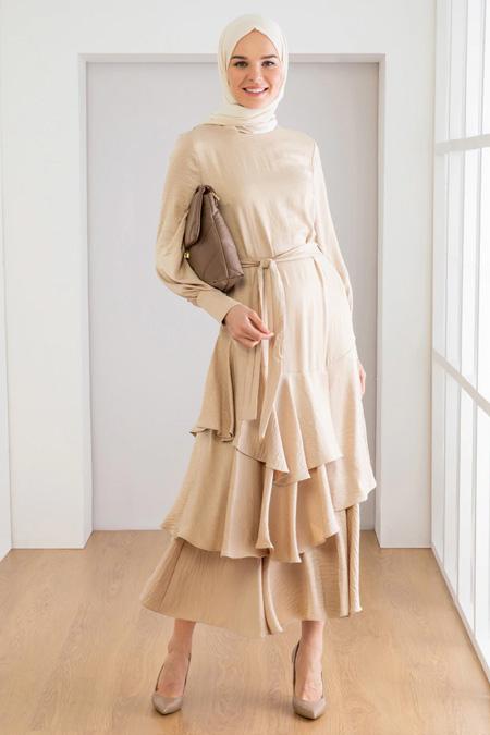 Loreen Taş Etek Detaylı Elbise