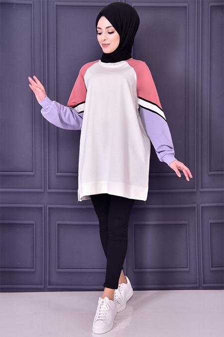 Modamerve Beyaz Renkli Tunik