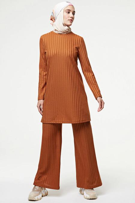 Muni Muni Camel Tunik Pantolon İkili Takım
